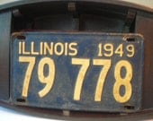Vintage 1949 Illinois License Plate