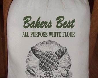 Feed Sack, Flour Sack Bag, Bakery Sack, Prim Decor, Country Decor, Muslin Bag, Vintage Feed Sack, Cotton Sack, Bakers Best All Purpose Flour
