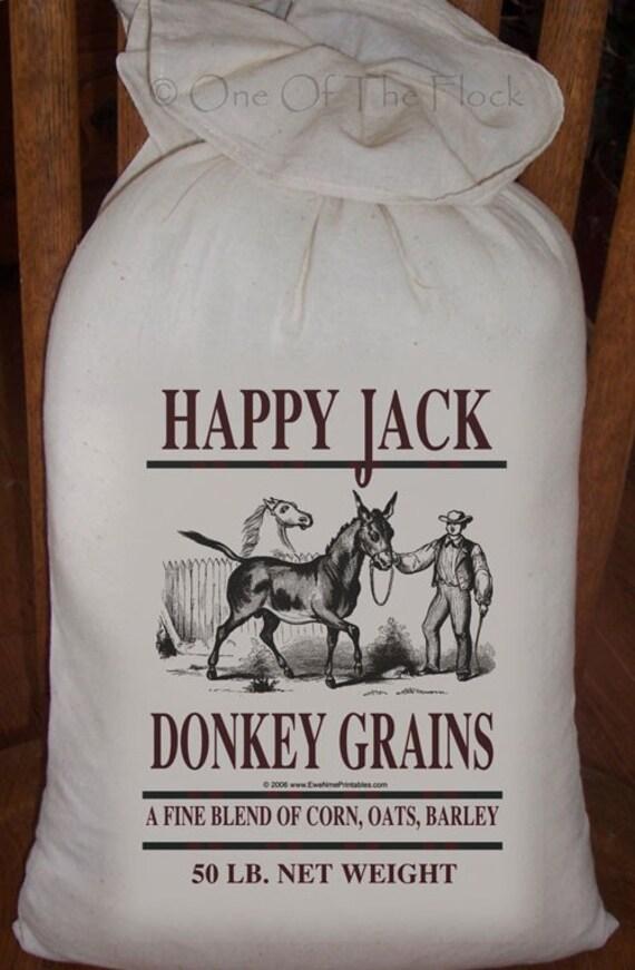 Feed sack flour sack bag donkey sack prim decor country