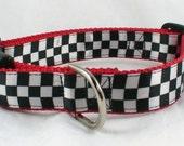 Checkered Flag Dog Collar