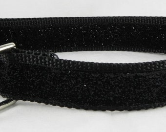 Black Metallic Sparkle Dog Collar