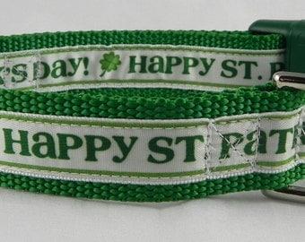 Happy St. Patrick's Day Dog Collar