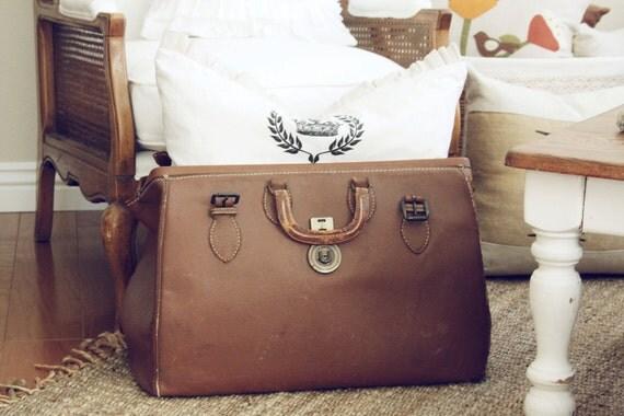 Hold for Jennifer Campbell-Vintage Leather Doctor's Bag-Vintage Luggage