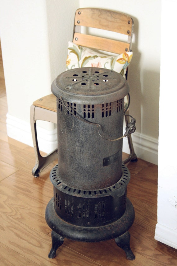 Hold for Todd-Vintage Rusted Metal Heater