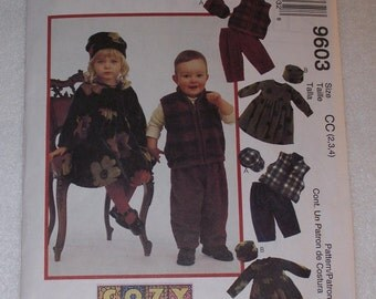 DRESS-PANTS-VEST-Hat Pattern for Girls and Boys  Sizes 1-2-3