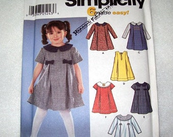 GIRL S DRESS PATTERN   With   6   Variations  -   Sizes .5-1-2-3-4