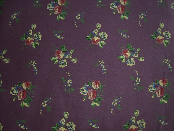 Pretty Fabric any Time of the Year  -  PLUM BACKGROUND -  2.5 Yards  10.00