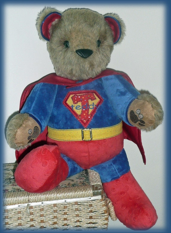 Superteddy stuffed teddy bear