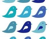Bluebirds - 8x10 Art Print