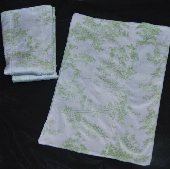 Minky Toile Burp Clothes