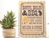 western style invitations