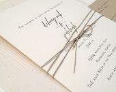 Rustic Wedding Invitation, Elegant Wedding Invitation, Simple Wedding Invitation, Casual Wedding Invitation, Calligraphy Wedding Invitation