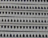 Rose gold foil 6 rows TASSEL FRINGE Border Trim die cut embossed Dresden Victorian Scrap