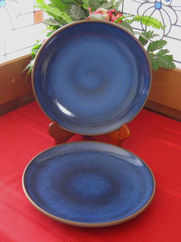 Vintage Heath Ceramics Moonstone Coupe 2 Salad Plates