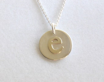 Personalized Initial Charm Necklace in Gold and Silver