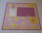 Twinkle Twinkle 12x12 Scrapbook Page