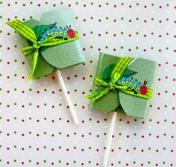 The Very Hungry Caterpillar Favor Lollipops