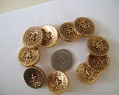 Lot 14 - Large Dark Gold Buttons(10)