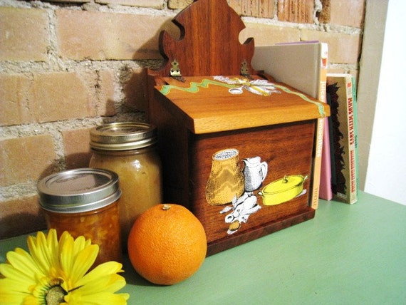 Wooden Recipe Box Kitchen Decor Home and Living