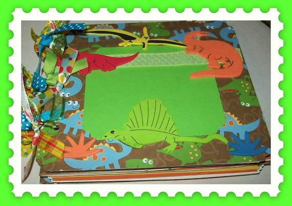 Dinosaurs R Us Children's Premade Scrapbook/Album