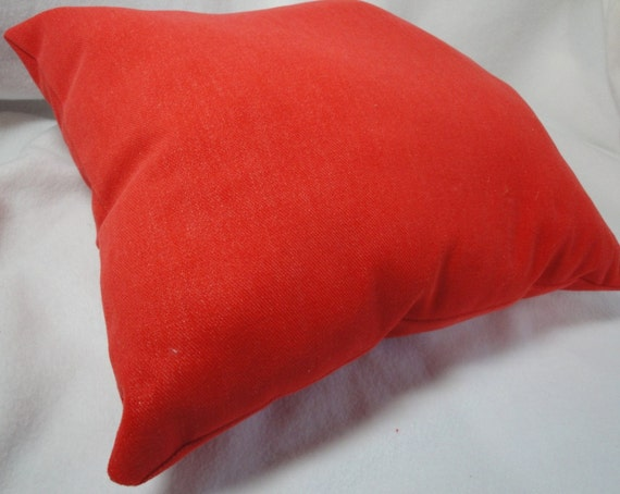 Red Orange Decorative Throw Pillow Soft by SewnInspirations
