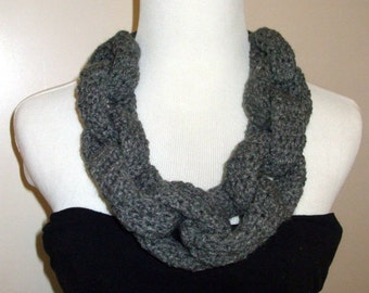 Hand Crochet Choker Chain, Chain Cowl. Chunky Necklace, Chain Scarf, Chain infinity scarf, Chain Neckwarmer, CHOOSE YOUR COLOR