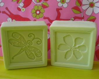 Apple Stamped Soap Pair