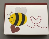 Little Bee (Will You Bee Mine) Valentine's/Wedding/Anniversary/Engagement 4-Bar Folded Card