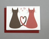 Love Cats (I Love You) Valentine's/Wedding/Anniversary/Engagement 4-Bar Folded Card