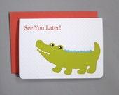See You Later Alligator Farewell 4-Bar Folded Card