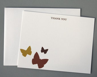 Butterflies (Thank You) A2 Flat Note Cards (Set of 10)