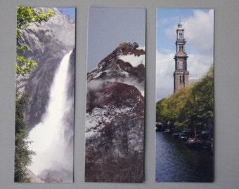 Travel Bookmarks - Yosemite, Hokkaido, Amsterdam (Set of 3)