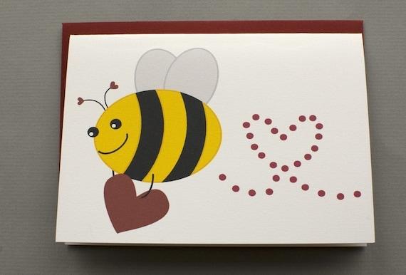 Little Bee Will You Bee Mine – Bee Mine Valentine Card