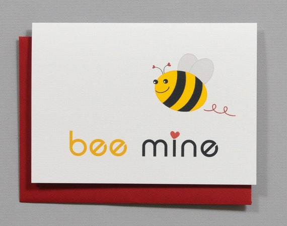 Bee Mine Valentine's/Wedding/Anniversary/Engagement 4-Bar Folded Card