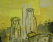 Composition 2, Encaustic Painting by Kayde E. Kaiser