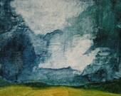 50% OFF, JUNE50 Clouds, Original Gouache Painting by Kayde E. Kaiser