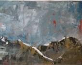 Composition 6, Original Encaustic Painting by Kayde E. Kaiser