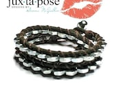 Nuts for You Leather Double Wrap Bracelet