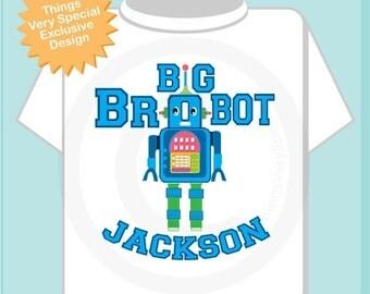 Big Brother Shirt - Big Brobot Shirt or Onesie - Big Brother Robot Shirt - Personalized Big Brother Robot T-shirt - Robot Outfit 07062010a