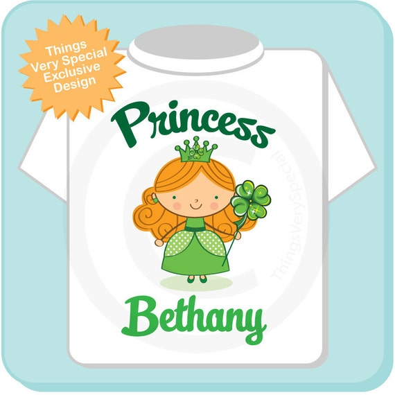 Irish Princess Shirt, Personalized Princess Shirt or Onesie, Princess Shirt for Toddlers and Kids (02062012b)