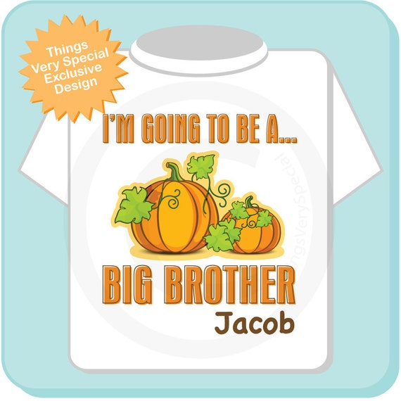 Big Brother Shirt Personalized Infant, Toddler or Youth Tee Shirt or Onesie Pregnancy Announcement