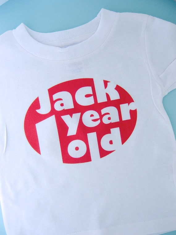 First Birthday Shirt or Onesie, Red Number 1 1st Birthday Shirt, Personalized Boys Birthday, Red Oval Age and Name Tee for kids (02152012a)