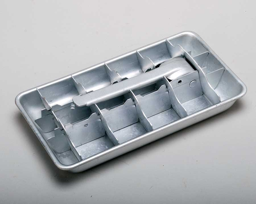 vintage free shipping aluminum ice cube tray. Black Bedroom Furniture Sets. Home Design Ideas