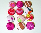 Pink Assorted Cover Buttons