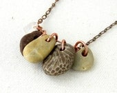 CUSTOM RESERVED FOR cynthiahudzik - Unique Natural Stone Jewelry - necklace, Rock Collection.
