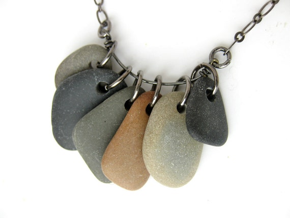 Natural jewelry - natural stone necklace - Rock Collection, Bittersweet Grays