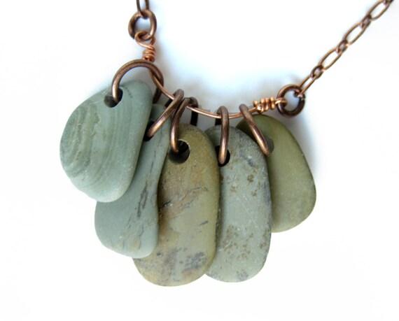 River rock jewelry - fall fashion - Puddle Stone