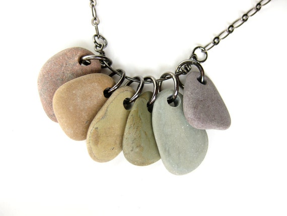 Natural jewelry - rainbow rock necklace - Rock Collections, Rainbow - 495