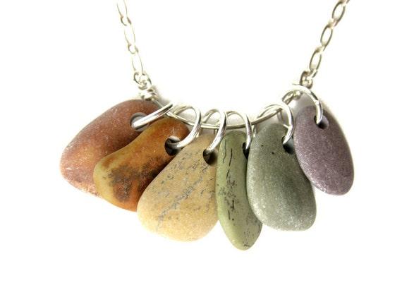 Natural jewelry - rainbow necklace - Rainbow Rocks - 520