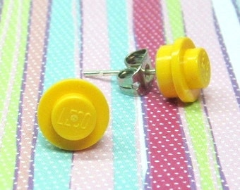 Little Yellow Earrings made from LEGO® Pieces